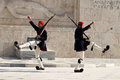 Presidential Guards Marching at the Tomb of the Uknown Soldier in Athens