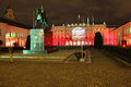 Presidential Palace at night. Warsaw.Poland Royalty Free Stock Photo