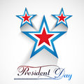 Presidents day american independence day stars in flag background Royalty Free Stock Image