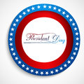 Presidents day stylish text united states background design Stock Image