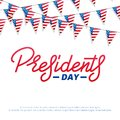 Presidents Day. Typographic lettering logo for USA Presidents Day celebration