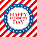 Presidents day vector background. Colors of american flag. USA patriotic template. Illustration with stripes and stars Royalty Free Stock Photo