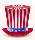 Presidents Day. Washingtons Birthday. Uncle Sams hat Royalty Free Stock Photo