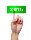 Press button of image to use in an optimistic view on year can be also used for review the year Stock Photography