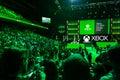 Press gathering at Xbox media briefing Royalty Free Stock Photo