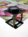 Press magnifying glass 2 Royalty Free Stock Photos