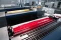 Press printing - Offset machine (detail Ink) Royalty Free Stock Photo