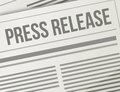 Press release closeup illustration design graphic newspaper Royalty Free Stock Photo