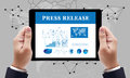 Press Release  concept Royalty Free Stock Photo