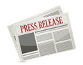 Press release newspaper illustration design over white Royalty Free Stock Photos