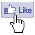 Press Thumb Up Like button Royalty Free Stock Photo