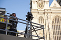 Press at Westminster Abbey Royalty Free Stock Images