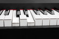 Pressed chord the on piano keys Royalty Free Stock Images