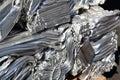 Pressed scrap aluminium. Royalty Free Stock Photo
