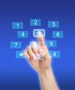 Pressing number key pad woman virtual Royalty Free Stock Images