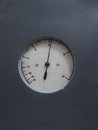 Pressure gauge on gray blackground Stock Photos
