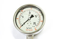 Pressure gauge indicator isolated on white background Royalty Free Stock Photos