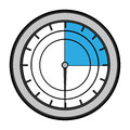 Pressure gauge isolated icon