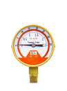 Pressure gauge isolated on white background. Stock Image