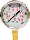 Pressure gauge with needle hydraulic from to psi isolated Royalty Free Stock Image