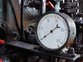 Pressure gauge old in a puffer Royalty Free Stock Photos