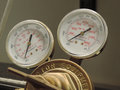 Pressure gauge regulator for a carbon dioxide tank Stock Photos