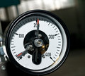 Pressure measuring control Stock Photo