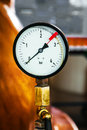 Pressure meter close up photo Stock Images