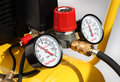 Pressure meters closeup Stock Photos