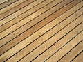 Pressure treated wood deck Royalty Free Stock Photo