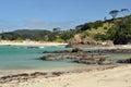 Prestine beach tutukaka coast gateway to poor knights marine reserve new zealand Stock Images