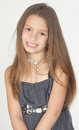 Preteen girl head shot of cute Royalty Free Stock Photos