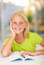 Preteen schoolgirl portrait at home Royalty Free Stock Image