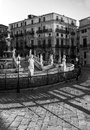 Pretoria fountain in palermo sicily italy stunning with human body marble statues located the city of Royalty Free Stock Image
