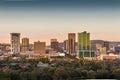 Pretoria Tshwane, South Africa - April 17th, 2016. Sunrise view of city center skyline. Royalty Free Stock Photo