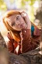 Pretty Amusing Redhead Girl Ma...