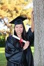 Pretty Asian Graduation Woman Royalty Free Stock Photo