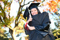 Pretty Asian Graduation Woman Royalty Free Stock Photo