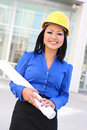 Pretty Asian Woman Architect Stock Images