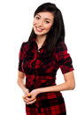 Pretty attractive asian girl smiling young cute dressed in fashion attire Royalty Free Stock Photo