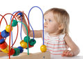 Pretty baby color educational toy image has attached release Royalty Free Stock Images