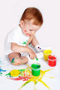 Pretty baby paint Stock Image