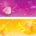 Pretty backgrounds with swirl design Royalty Free Stock Photos