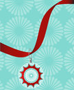 Pretty bauble on ribbon decorative hanging red Royalty Free Stock Photos