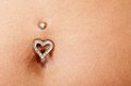 Pretty belly and piercing Royalty Free Stock Photo