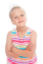 Pretty blond girl isolated on white background Royalty Free Stock Photos