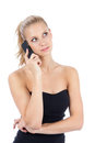Pretty business woman talking on the mobile phone Royalty Free Stock Photography