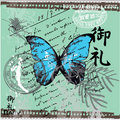 Pretty ButterFly Square Stock Photo
