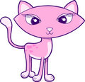 Pretty Cat Vector Illustration Royalty Free Stock Photos