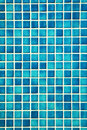 Pretty cool turqouise mosaic wall Royalty Free Stock Image